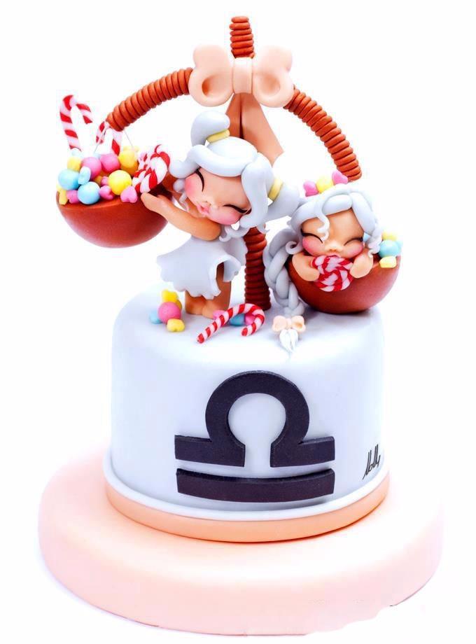 Các mẫu bánh chúc sinh nhật cung Thiên Bình