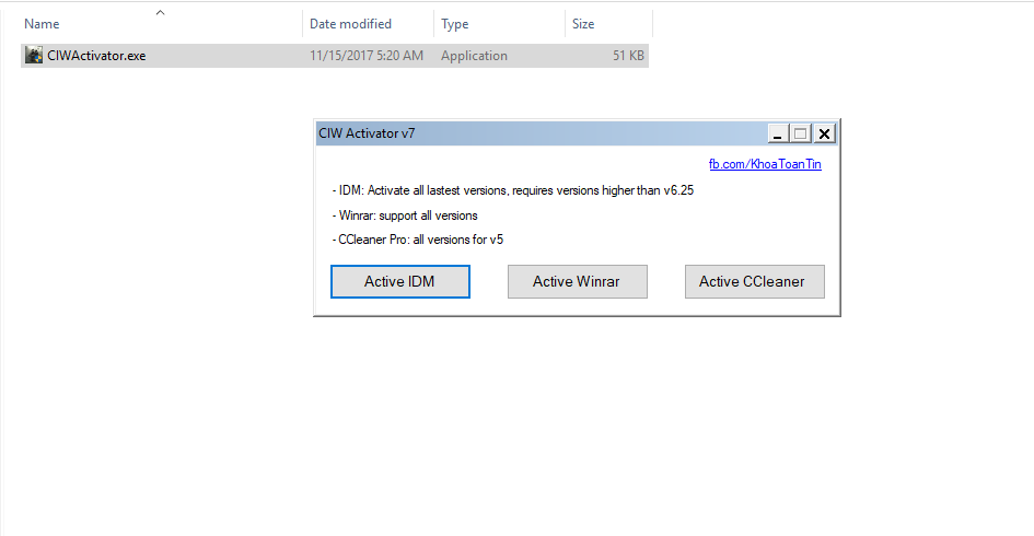 CIW Activator v7 - Kích hoạt IDM, Winrar, CCleaner tất cả phiên bản mới nhất!! 201733114180-10f9-4a0a-b041-1abc2786eea1