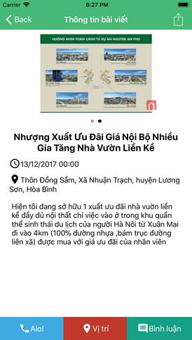 iOS Swift - Share project rao vặt bất động sản