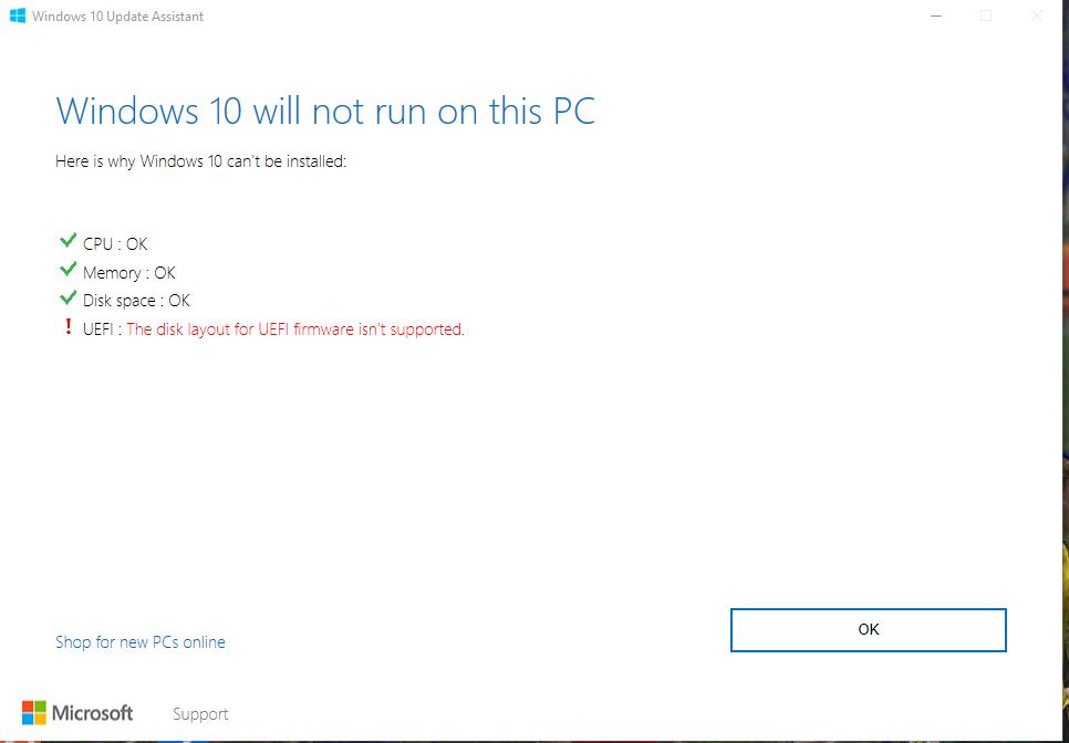 Cannot update windows 10 on mainboard H81M-DGSR2 0 - ASRock