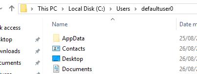 Windows 10 tự tạo user defaultuser0? - vozForums