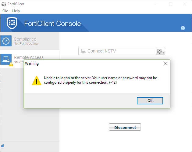 Error Forticlient stop 80% | Fortinet Technical Discussion Forums
