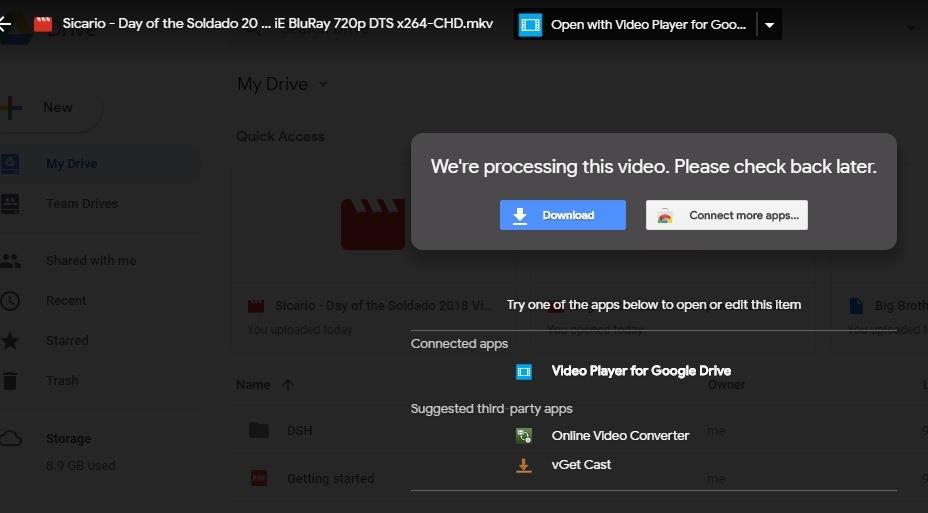 còn đổi tên sub giống tên phim thì dùng phần mềm video player for drive thì  nó lại không hiện sub