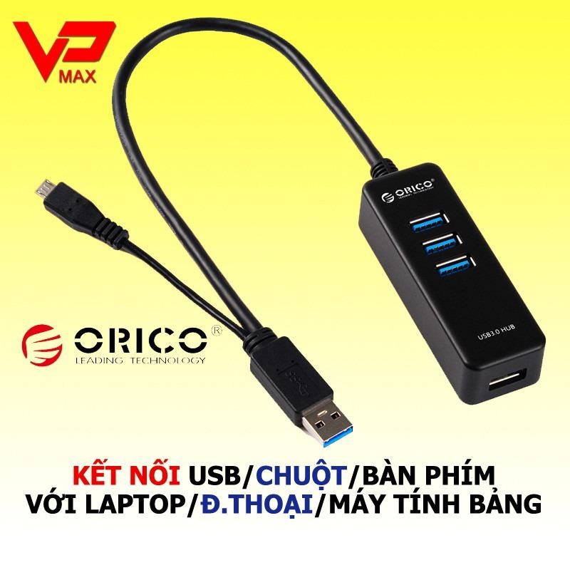 Hub Orico chia cổng USB kiêm đầu đọc thẻ - 1