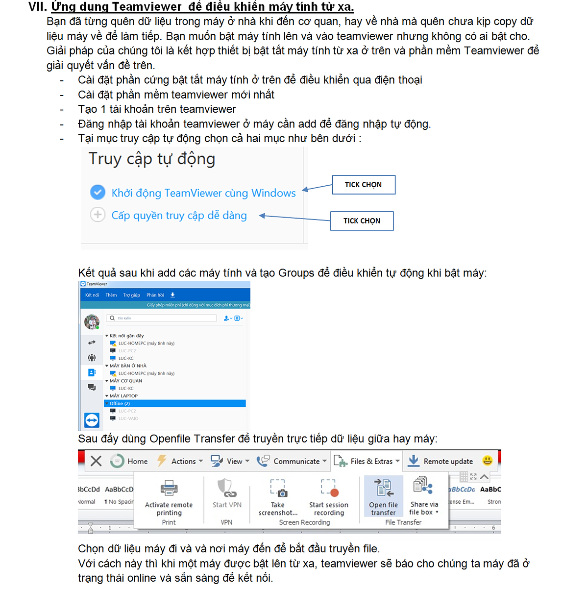 Bật tắt máy tính bằng wifi - Truyền dữ liệu qua Teamviewer