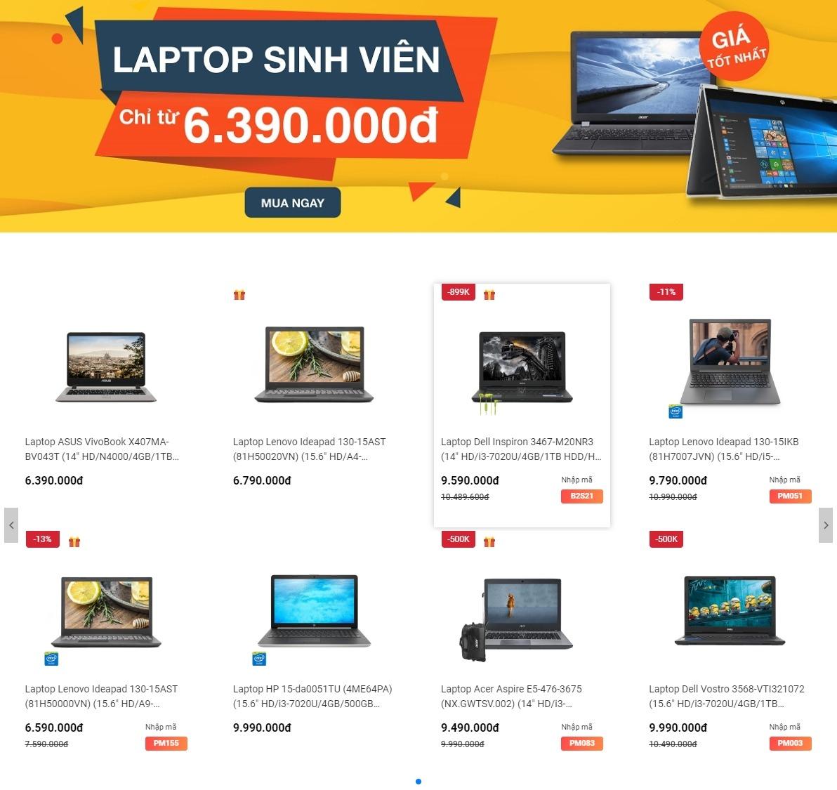 Mua laptop tai Phong Vu giam gia truc tiep khong phien ha trong mua Back to School 2019