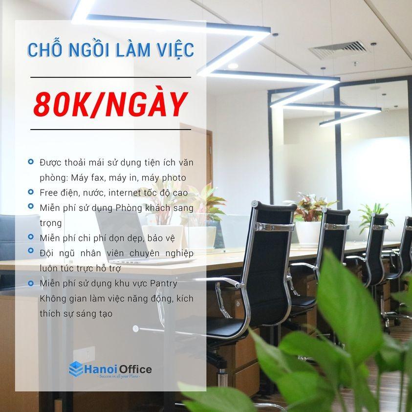 Trải nghiệm chỗ ngồi làm việc tại Hanoi Office chỉ từ 80k/ngày
